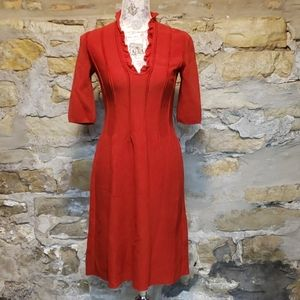 Valentino red sweater dress